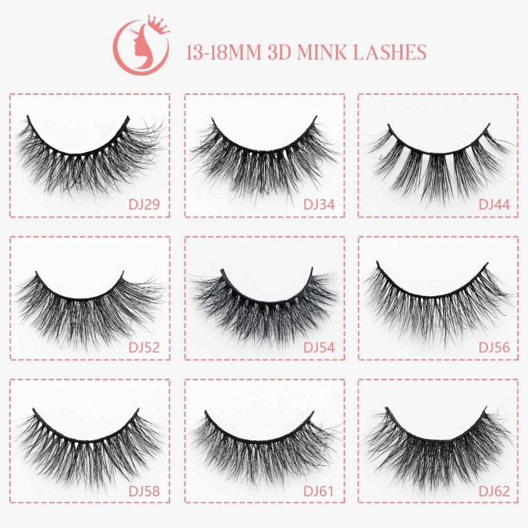 wholesale mink lash 13-18mm