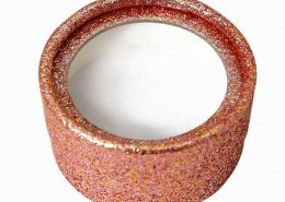 Rose gold glitter round eyelash cases from lashes factory